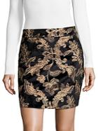 Goldie Embroidered Mini Skirt