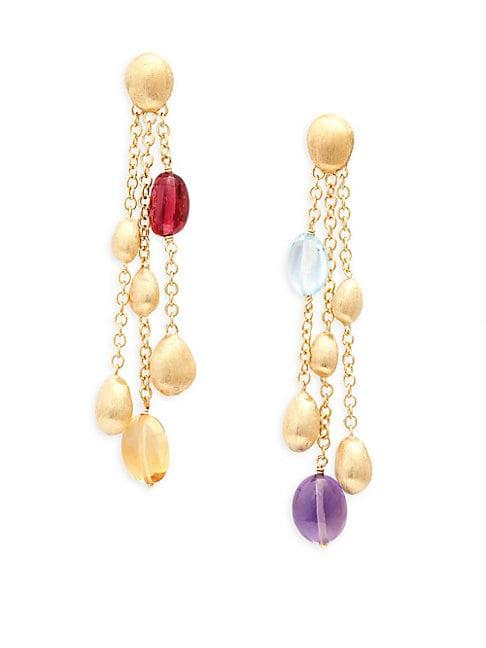 Marco Bicego Confetti 18k Yellow Gold & Multi-gemstone Drop Earrings