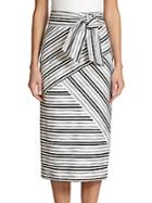 Milly Striped Midi Skirt