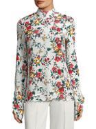 Derek Lam Floral Silk Blouse