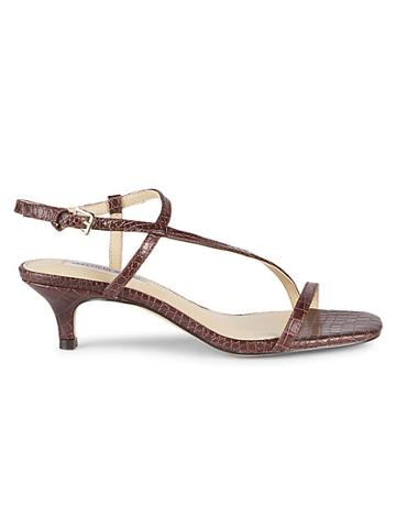 Saks Fifth Avenue Wyatte Crocodile-embossed Leather Slingback Sandals