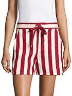 Valentino Striped Cotton-blend Shorts