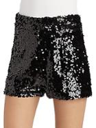 Halston Heritage Sequined Shorts