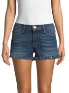 Frame Denim Distressed Denim Shorts