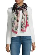 Valentino Floral Printed Scarf