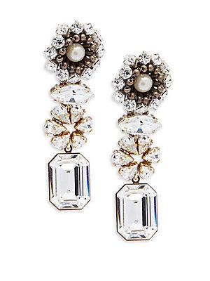 Tataborello Swarovski Crystal Drop Earrings