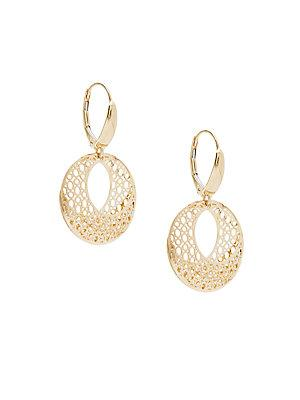 Saks Fifth Avenue 14k Yellow Gold Earrings