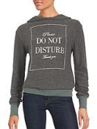 Wildfox Long Sleeve Do Not Disturb Hoodie