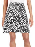 Oscar De La Renta Printed Silk Skirt