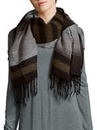 Lulla Collection By Bindya Striped Fringed Scarf