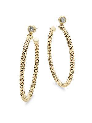 Chimento Diamonds & 18k Yellow Gold Hoop Earrings