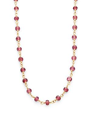 Temple St. Clair Faceted Rhodolite & 18k Yellow Gold Karina Necklace