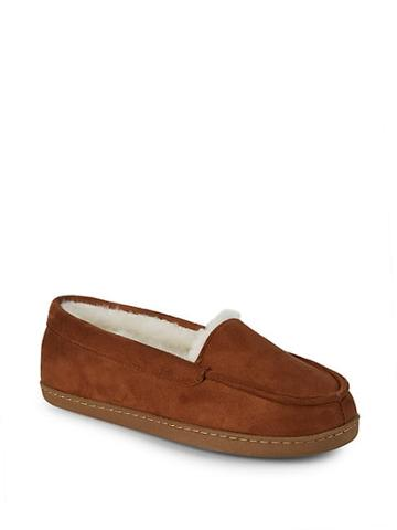 Saks Fifth Avenue Ginger Faux Fur Slippers