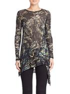 Fuzzi Printed Long Sleeve Top