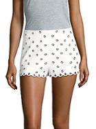 Redvalentino Scalloped Shorts