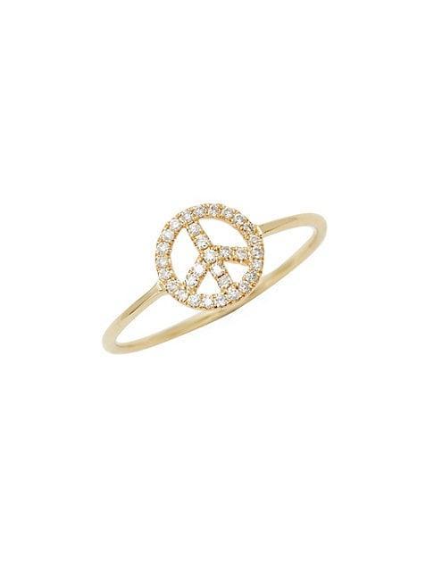 Suzanne Kalan 14k Yellow Gold & Diamond Ring