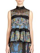 Sacai Tiered Floral Blouse