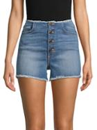 Siwy Abella Skinny Button Jean Shorts