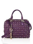 Versace Studded Leather Satchel