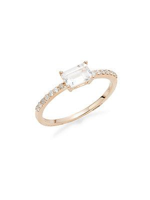 Meira T White Topaz & 14k Rose Gold Ring