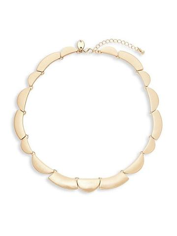 Ava & Aiden Goldtone Scalloped Necklace
