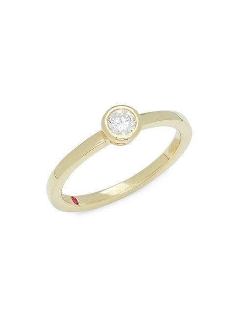 Roberto Coin 18k Yellow Gold & Diamond Ring