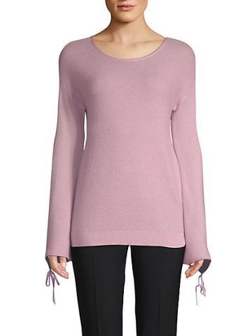 Saks Fifth Avenue Black Textured Link Sweater