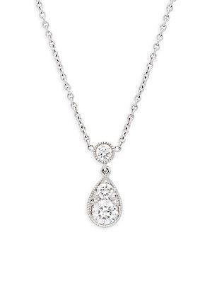 Kwiat Sunburst Diamond & 18k White Gold Pendant Necklace