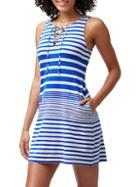 Tommy Bahama Beachglass Striped Short Coverup Dress