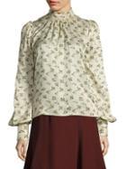 Marc Jacobs Silk Floral Blouse