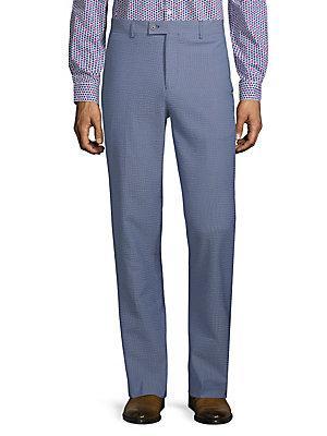 Paisley And Gray Seersucker Pants