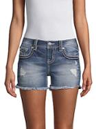 Miss Me Distressed Denim Shorts