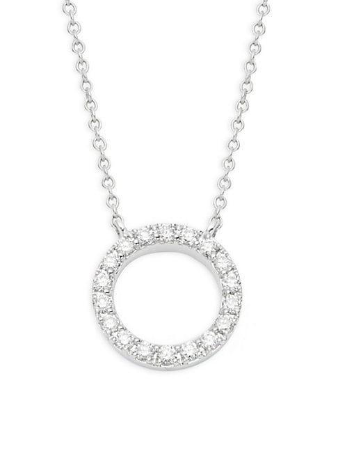 Kwiat Diamond 18k White Gold Circle Pendant
