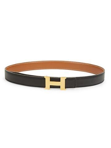 Herm S Vintage H Leather Belt