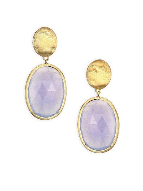 Marco Bicego Siviglia Chalcedony & 18k Yellow Gold Drop Earrings