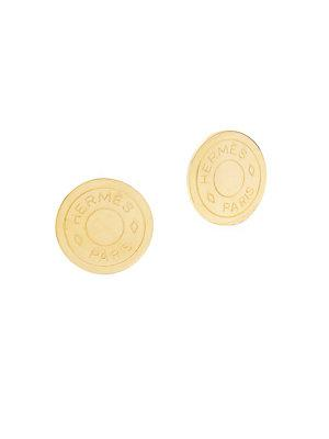 Herm S Vintage Gold Clou De Selle Earring