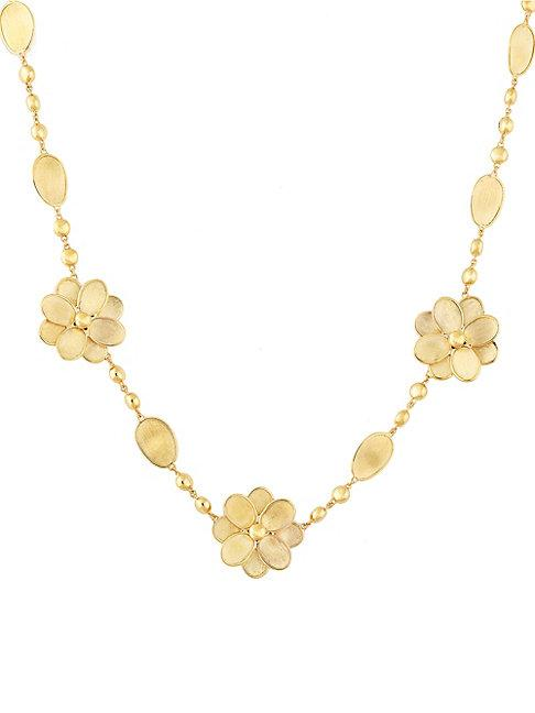 Marco Bicego Petali 18k Yellow Gold Flower Collar Necklace