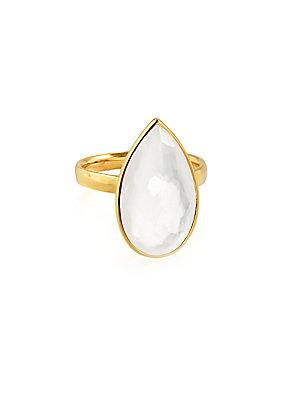 Ippolita Rock Candy 18k Gold Teardrop Solitaire Ring