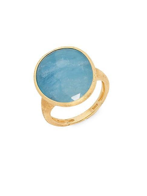 Marco Bicego 18k Gold & Aquamarine Cocktail Ring