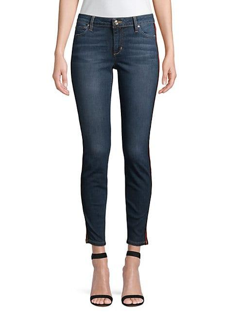 Joe's Jeans Icon Mid-rise Side-stripe Ankle Skinny Jeans