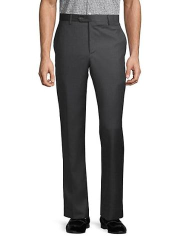 Saks Fifth Avenue Buttoned Wool Pants