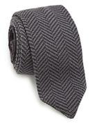 Hook + Albert Herringbone Knit Wool Tie