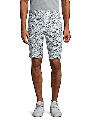 Paisley And Gray Floral Shorts