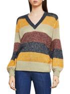 Bcbgmaxazria Striped Long-sleeve Sweater