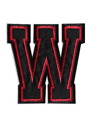 Logophile Embroidered Letter W Patch