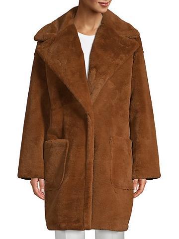 Pure Navy Teddy Coat
