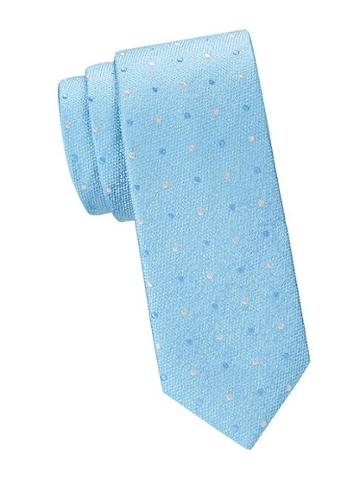 Saks Fifth Avenue Made In Italy Dotted Silk Slim Tie