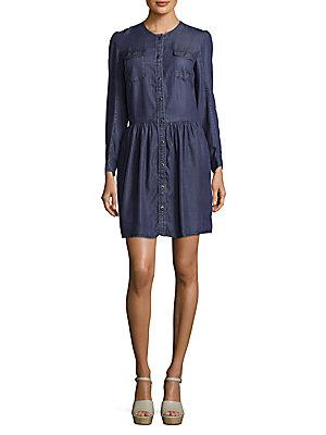The Kooples Long Sleeve Button-down Dress