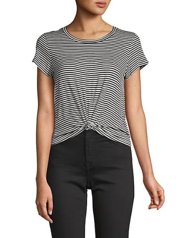 Renvy Striped Short-sleeve Tee