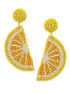Kenneth Jay Lane Lemon Slice Drop Earrings